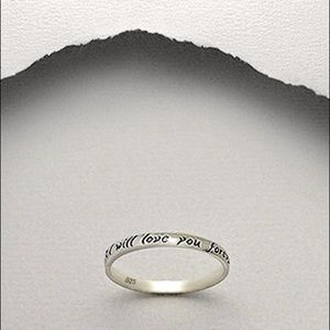 Jewelry - SALE.  925 Sterling Silver Message Ring